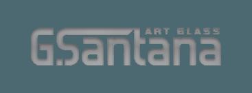 G. Santana Glass Logo